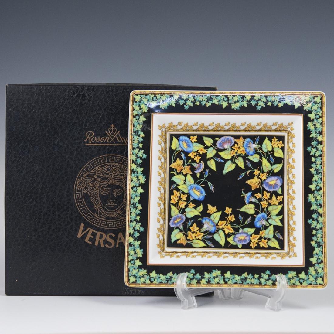 "Rosenthal Versace ""Gold Ivy"" Porcelain Ashtray"