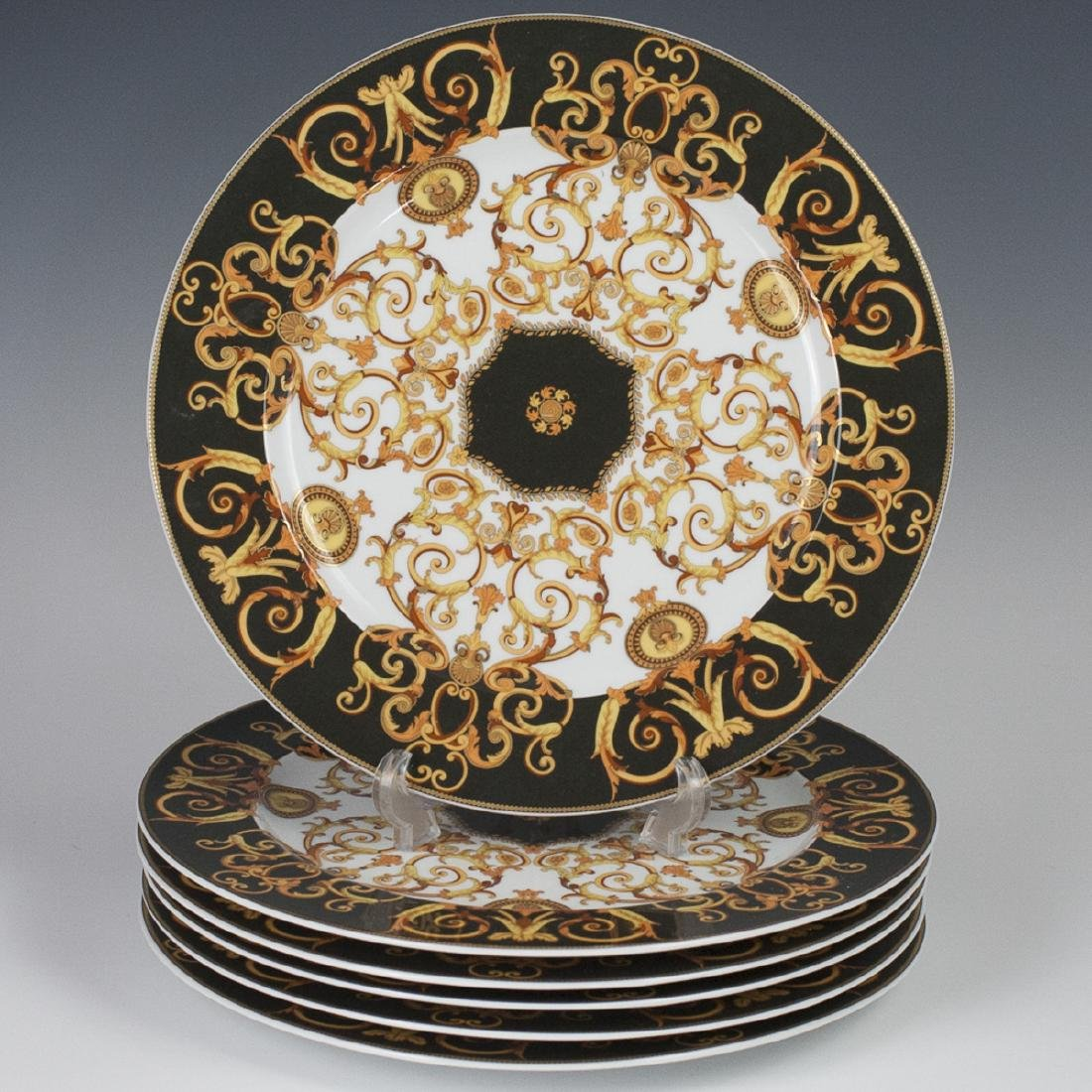 "Rosenthal Versace ""Barocco"" Porcelain Charger Plates"