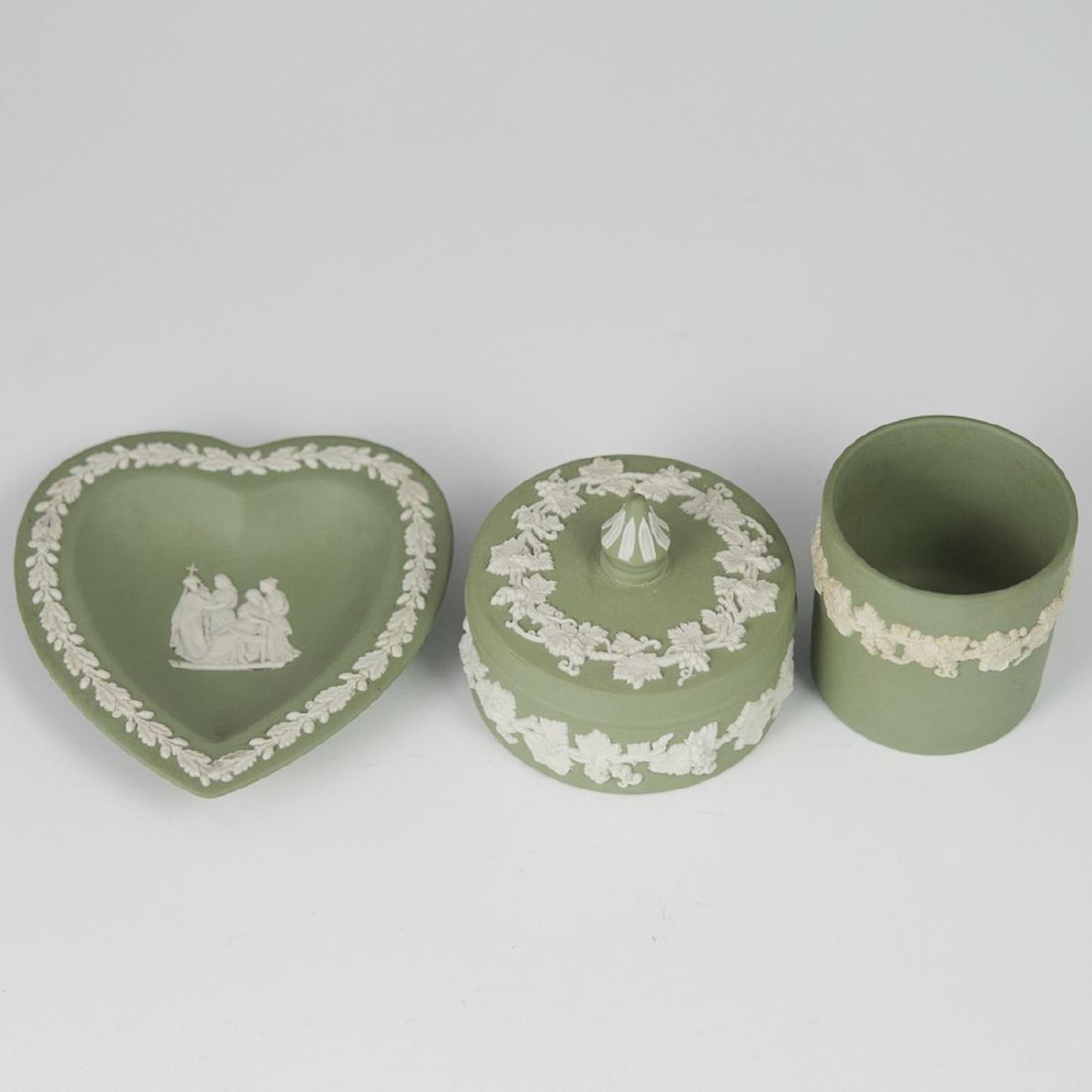 Wedgwood Green Jasperware Set