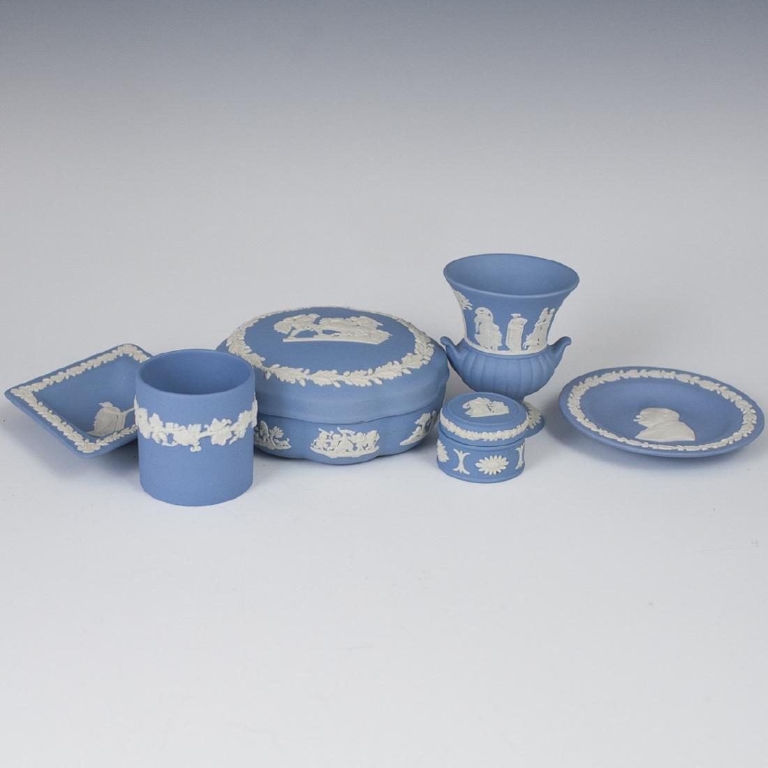 Wedgwood Blue Jasperware Set