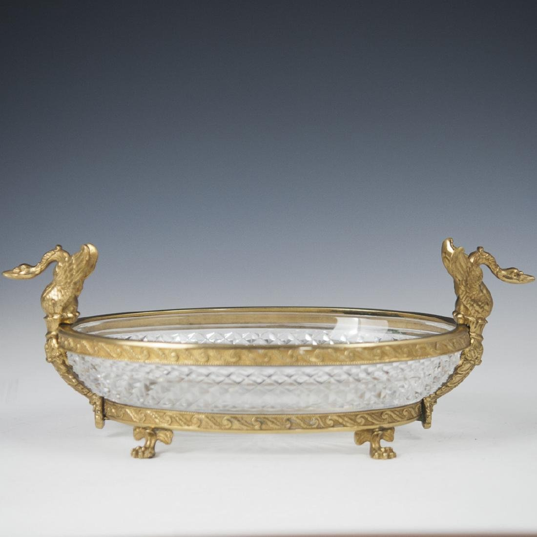 Antique French Mounted Ormolu Crystal Bowl