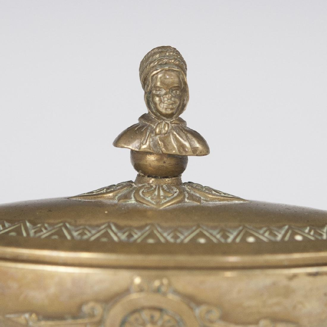 Antique Figural Dore Bronze Inkwell - 2