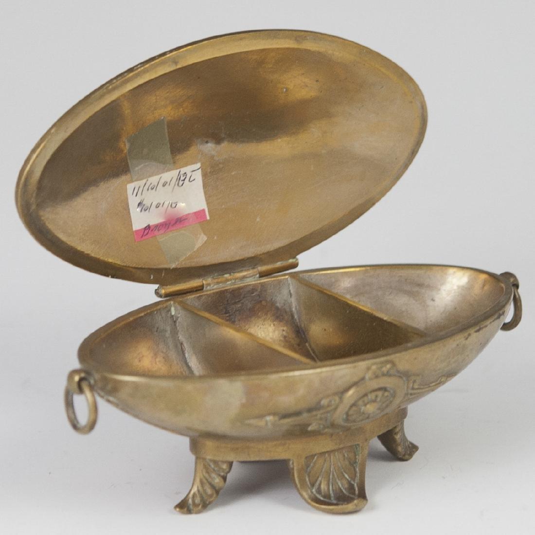 Antique Figural Dore Bronze Inkwell - 4