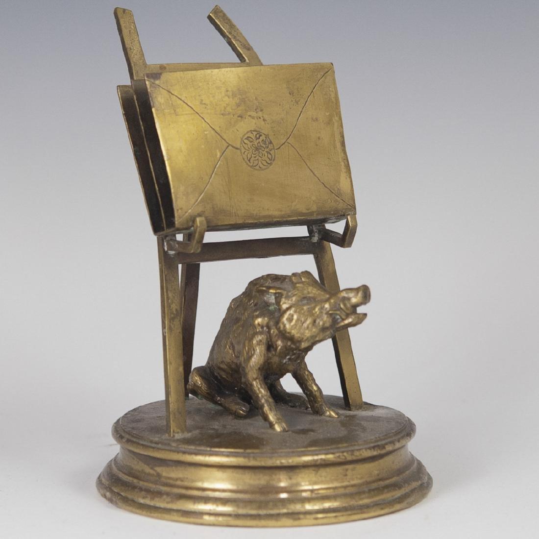 Antique Gilded Bronze Letter Holder