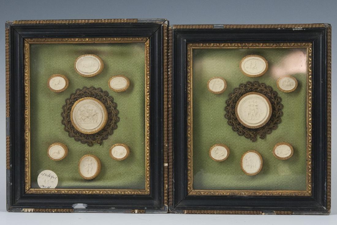 Framed Italian Neoclassical Intaglios