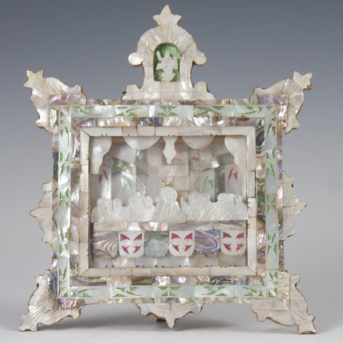 Tessellated Mother of Pearl Last Supper