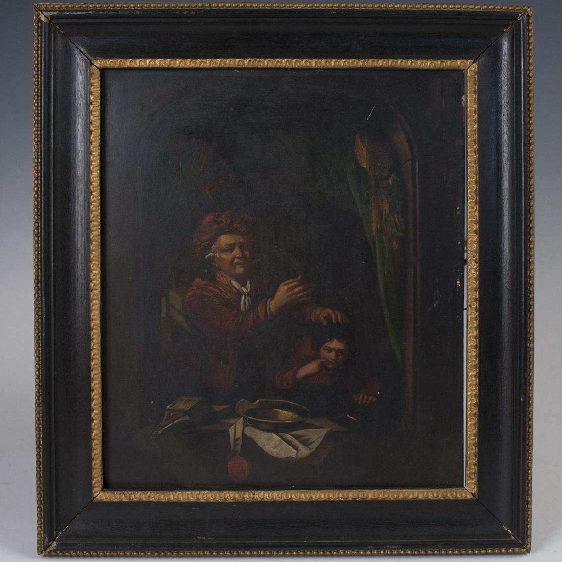 Antique Dutch Oil on Copper Painting