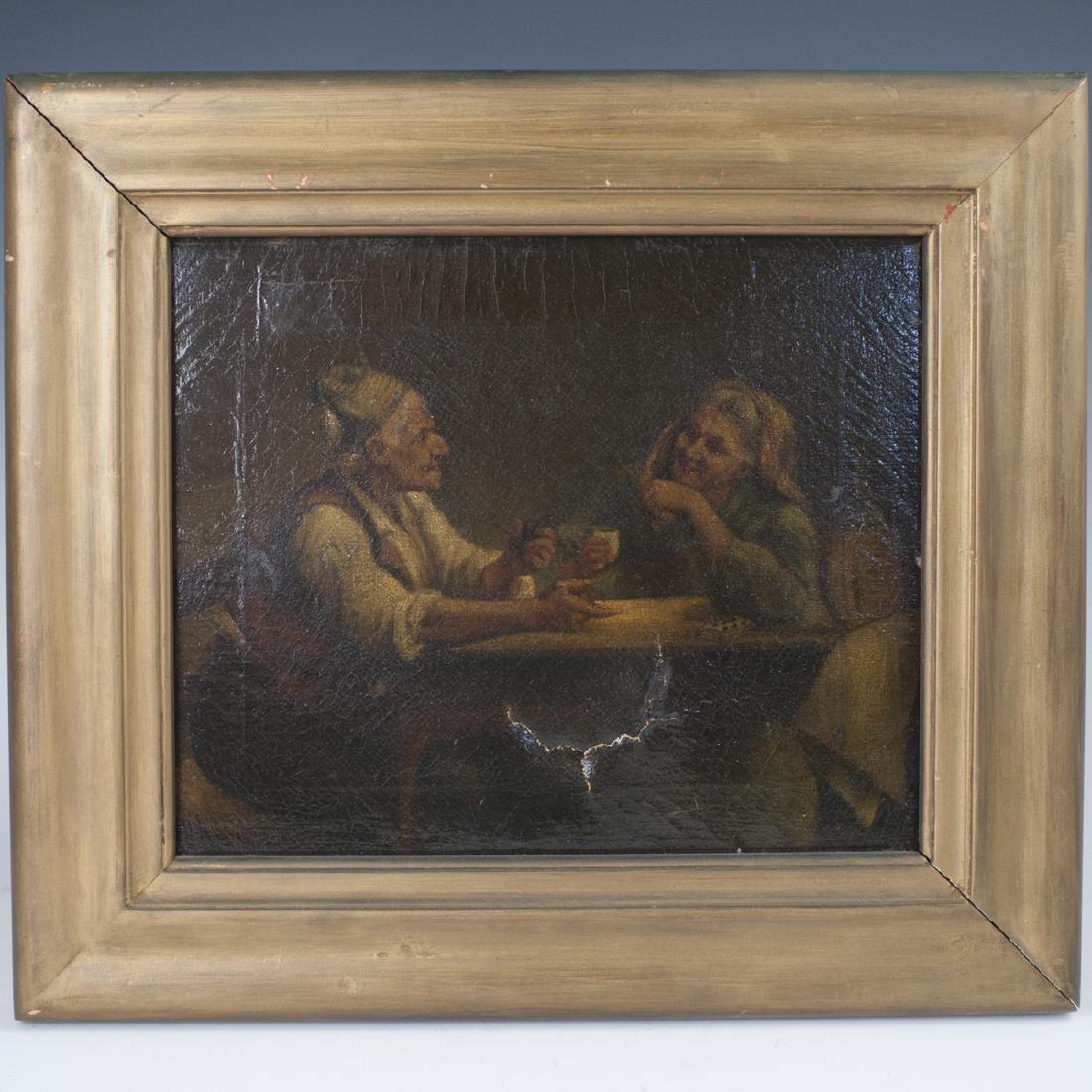 Antique Dutch Oil on Canvas
