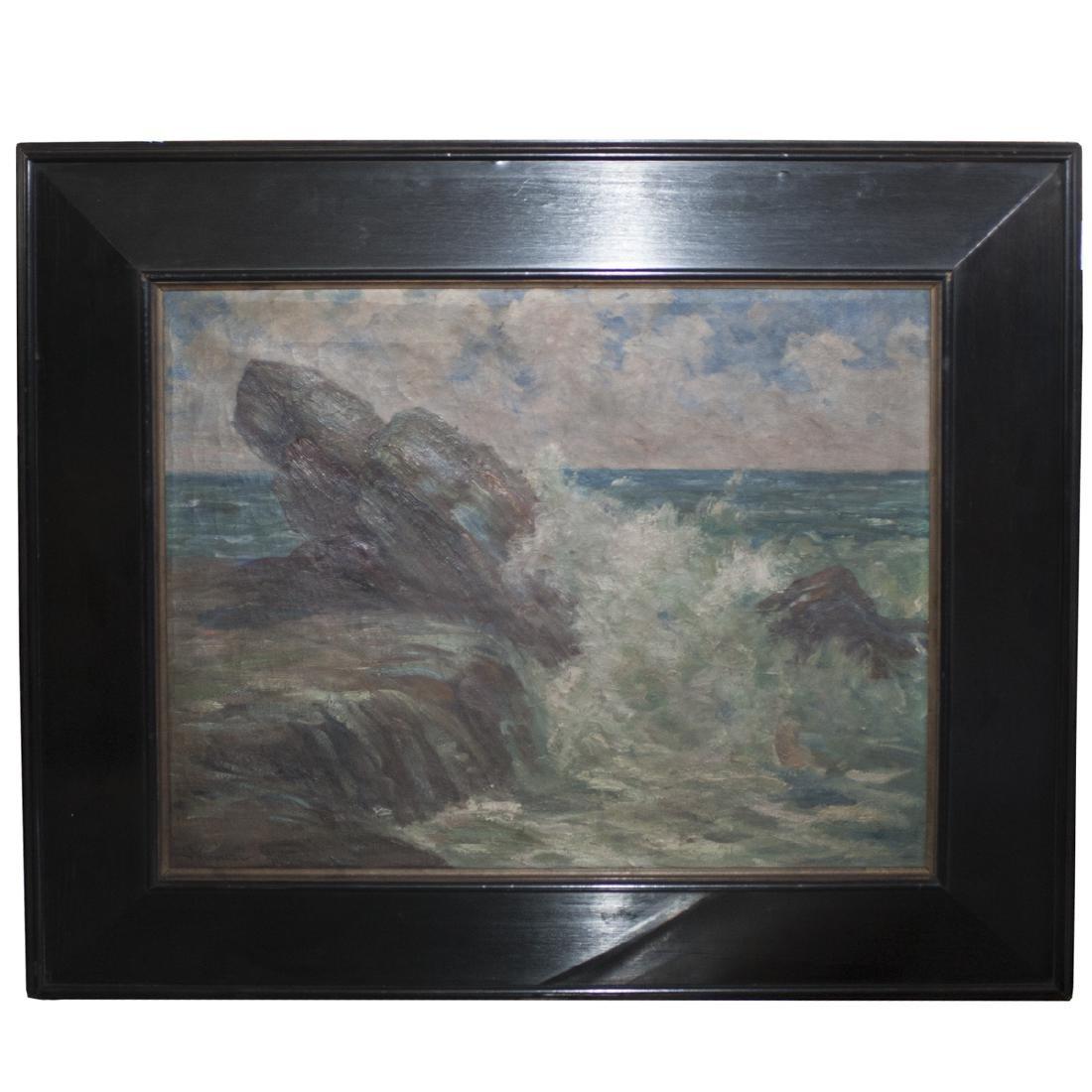 Antique Landscape Oil on Canvas
