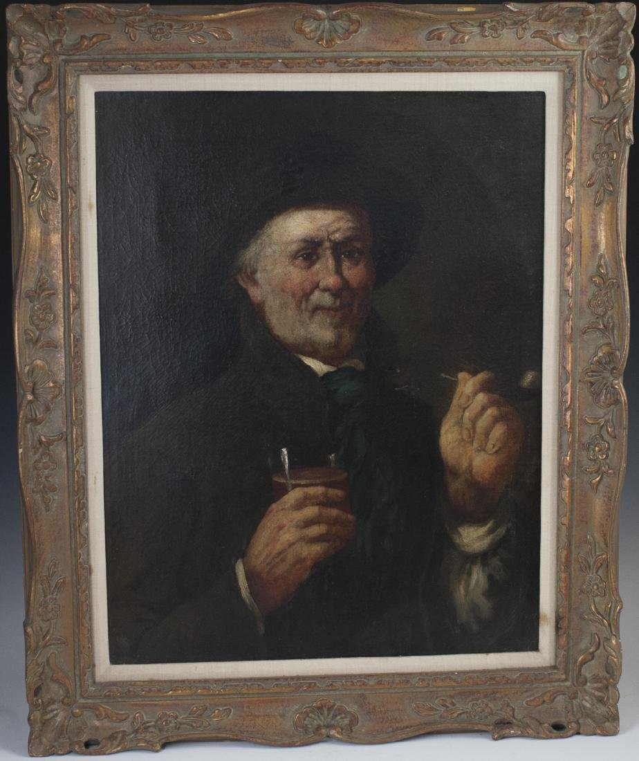 Antique Signed Oil on Canvas