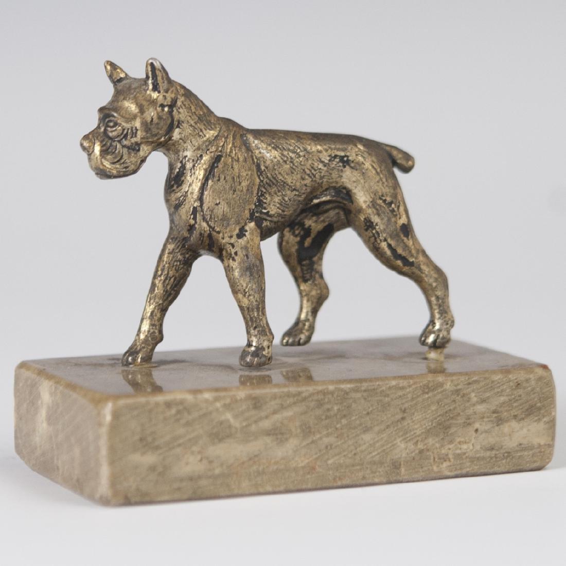 Antique Bronze Boxer Figurine