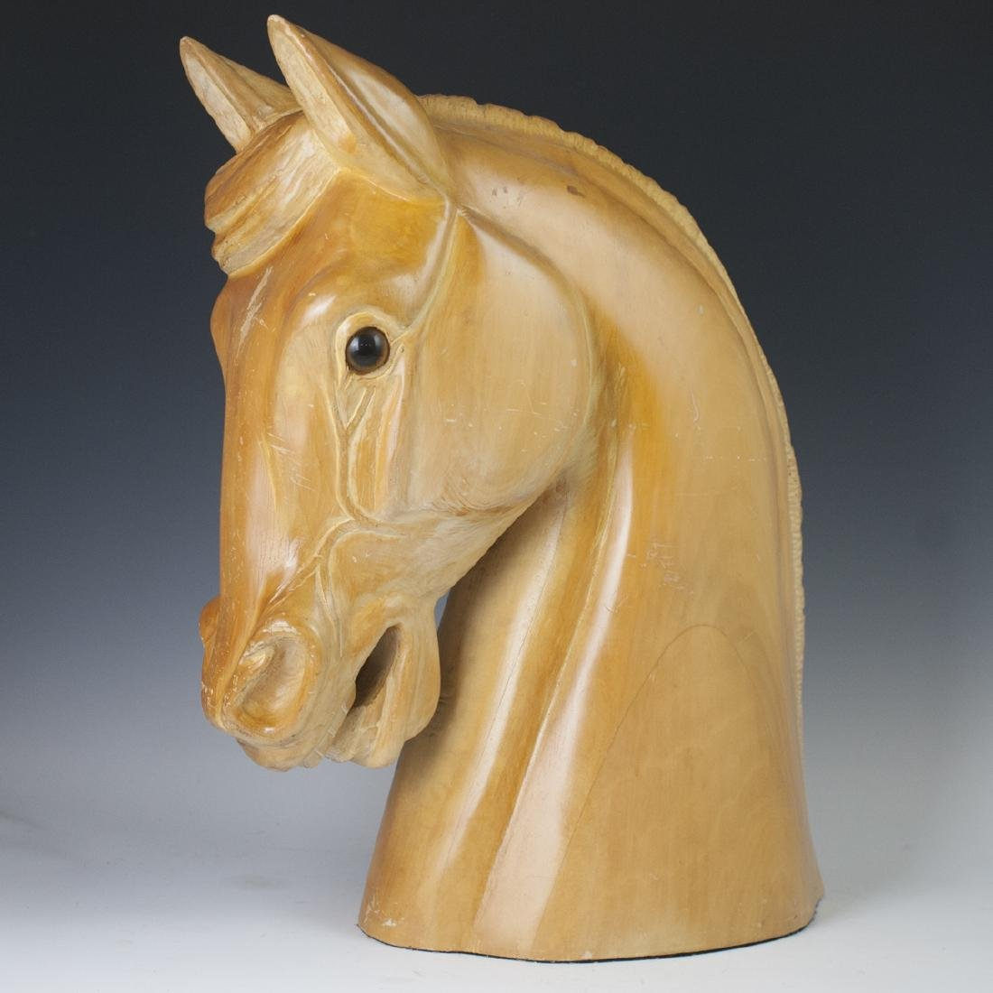 Carved Wooden Horse Bust