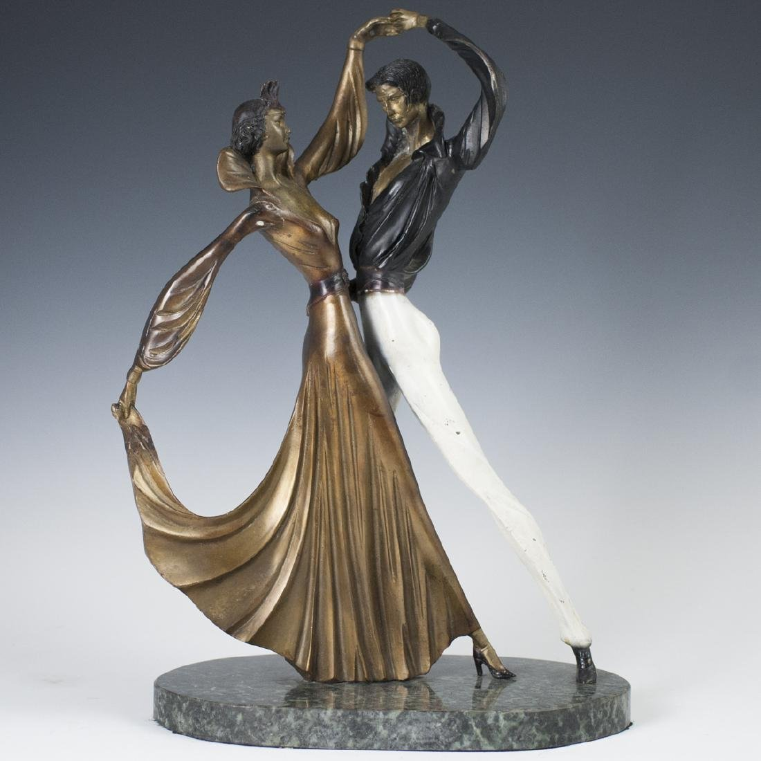 Art Deco Style Polychromed Bronze Sculpture