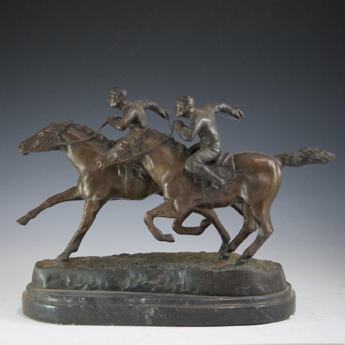 """""""Fast Finish"""" by Barye Bronze Sculpture"""