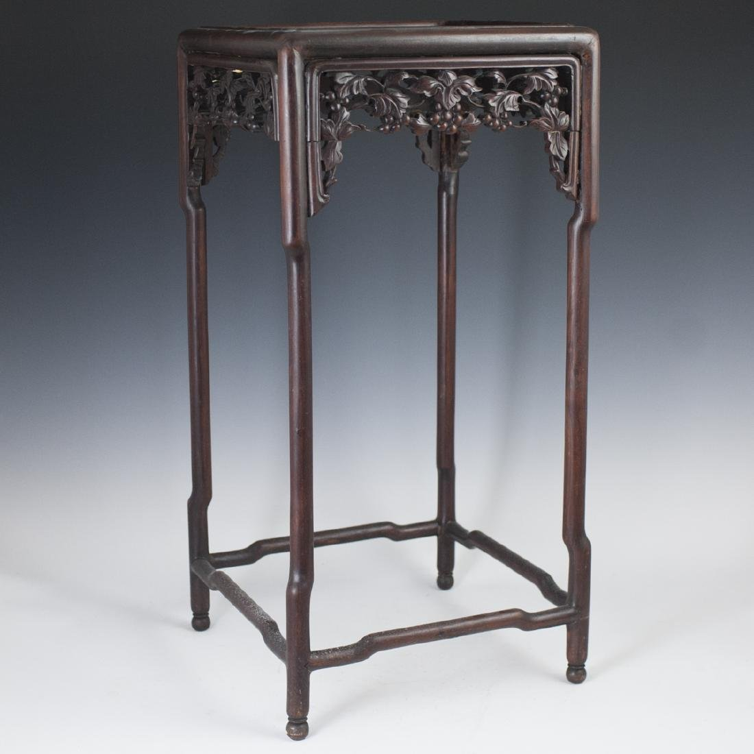 Chinese Carved Wooden Pedestal