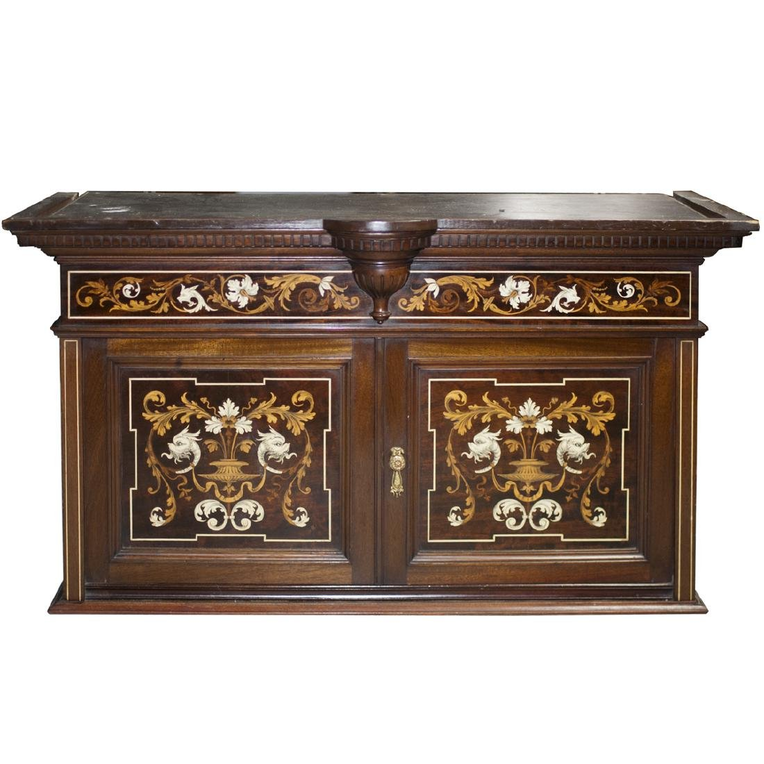 Antique Italian Marquetry Inlaid Cabinet