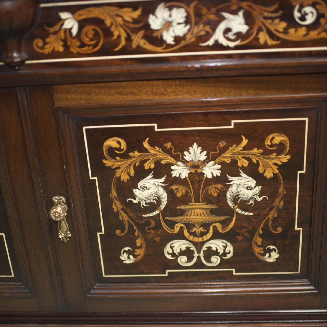 Antique Italian Marquetry Inlaid Cabinet - 2