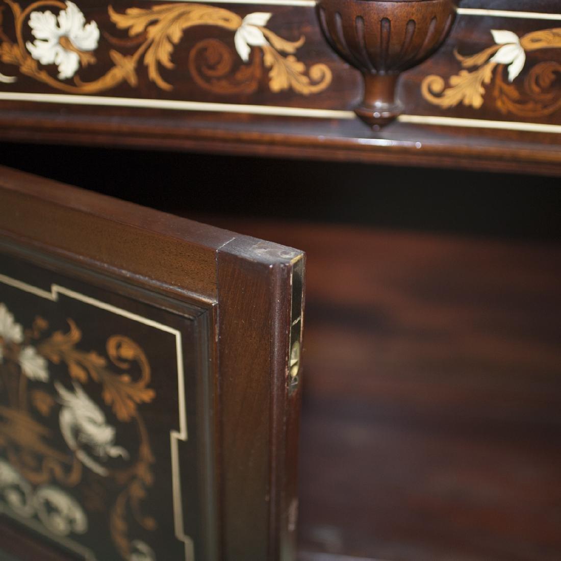 Antique Italian Marquetry Inlaid Cabinet - 3
