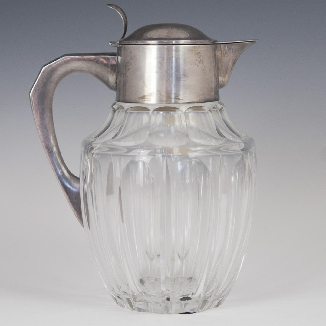 Vintage Crystal .835 Silver Mounted Pitcher