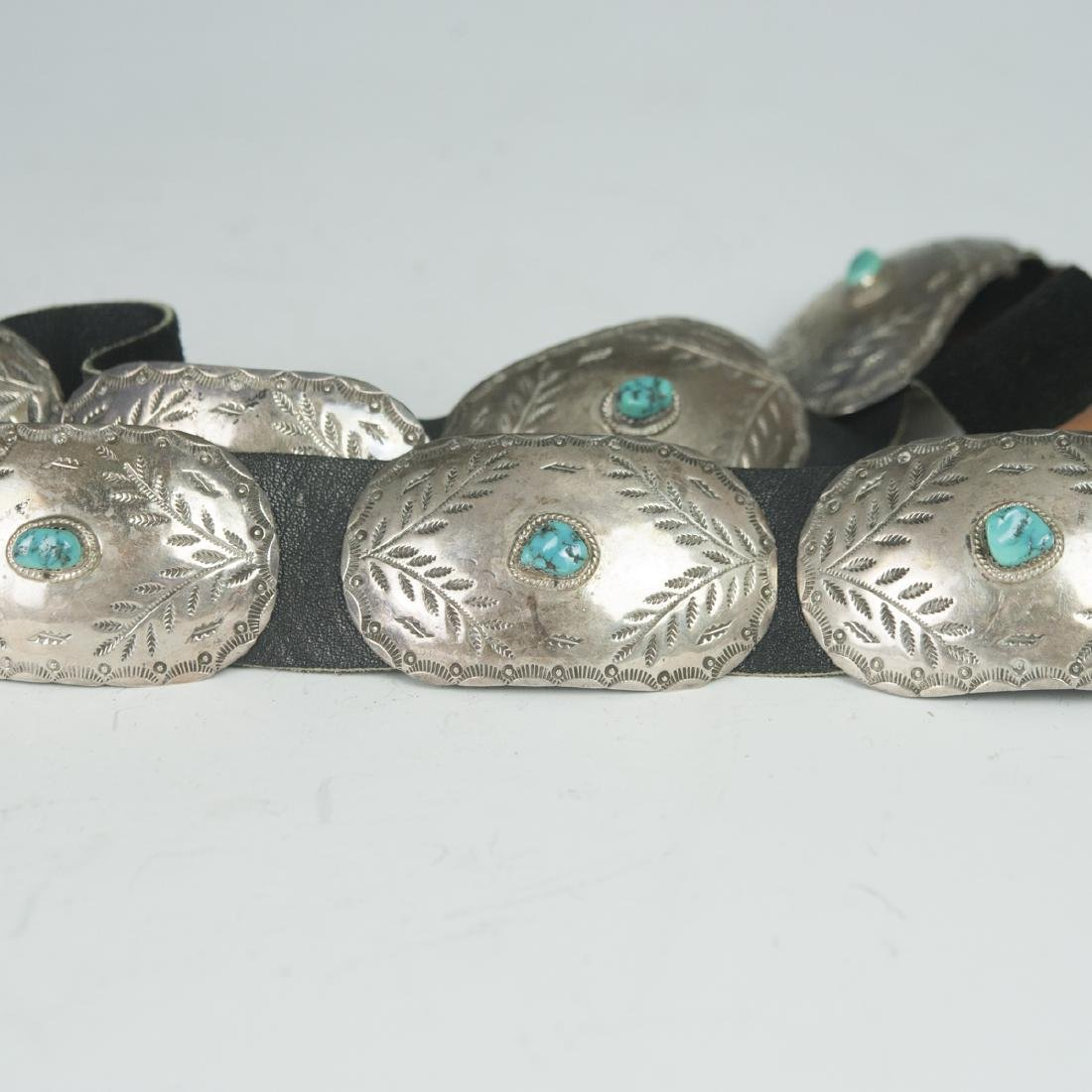 Navajo Sterling Turquoise Belt - 2