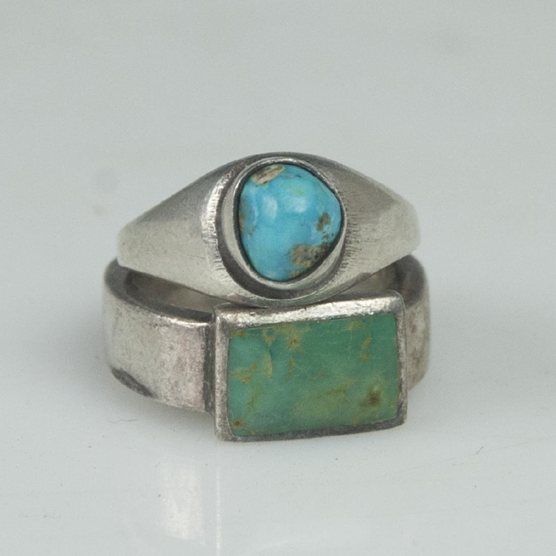Navajo Style Sterling Turquoise Rings