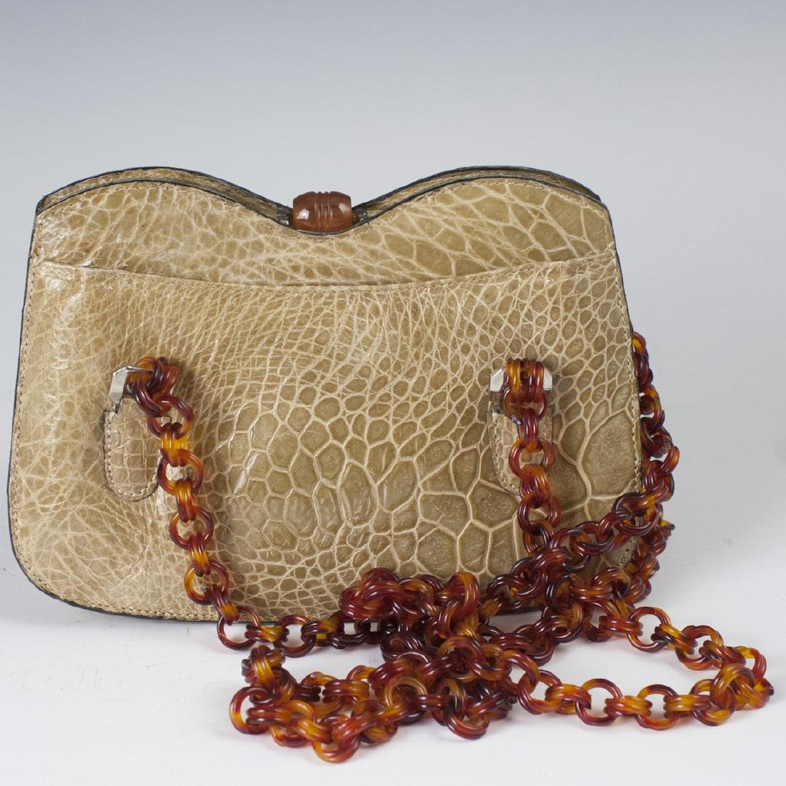 Alligator Leather & Bakelite Purse