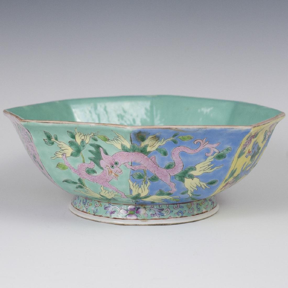 Antique Chinese Famille Rose Enameled Porcelain Bowl