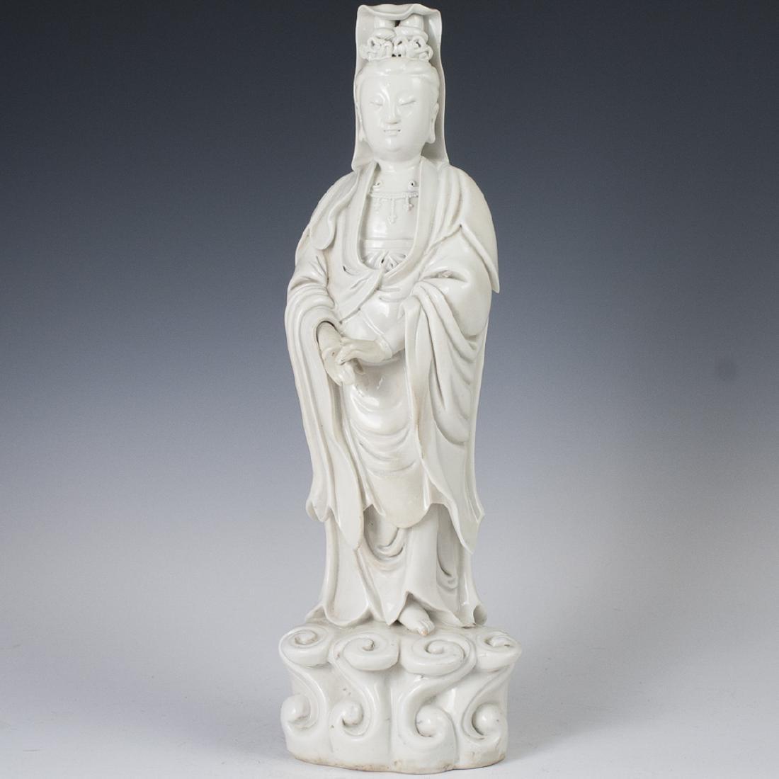 Antique Chinese Blanc De Chine Guanyin