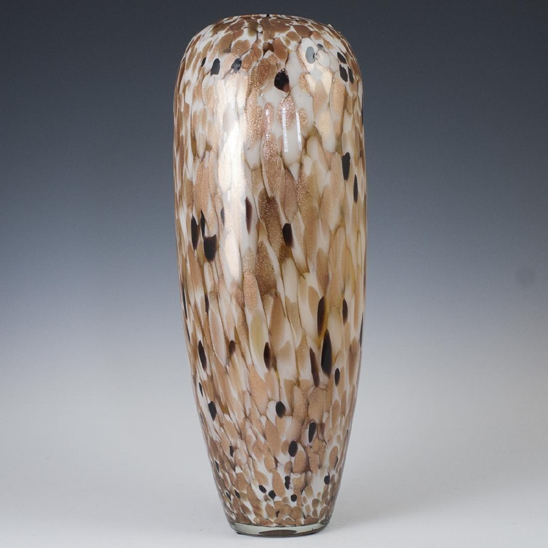 Murano Glass Copper Aventurine Vase