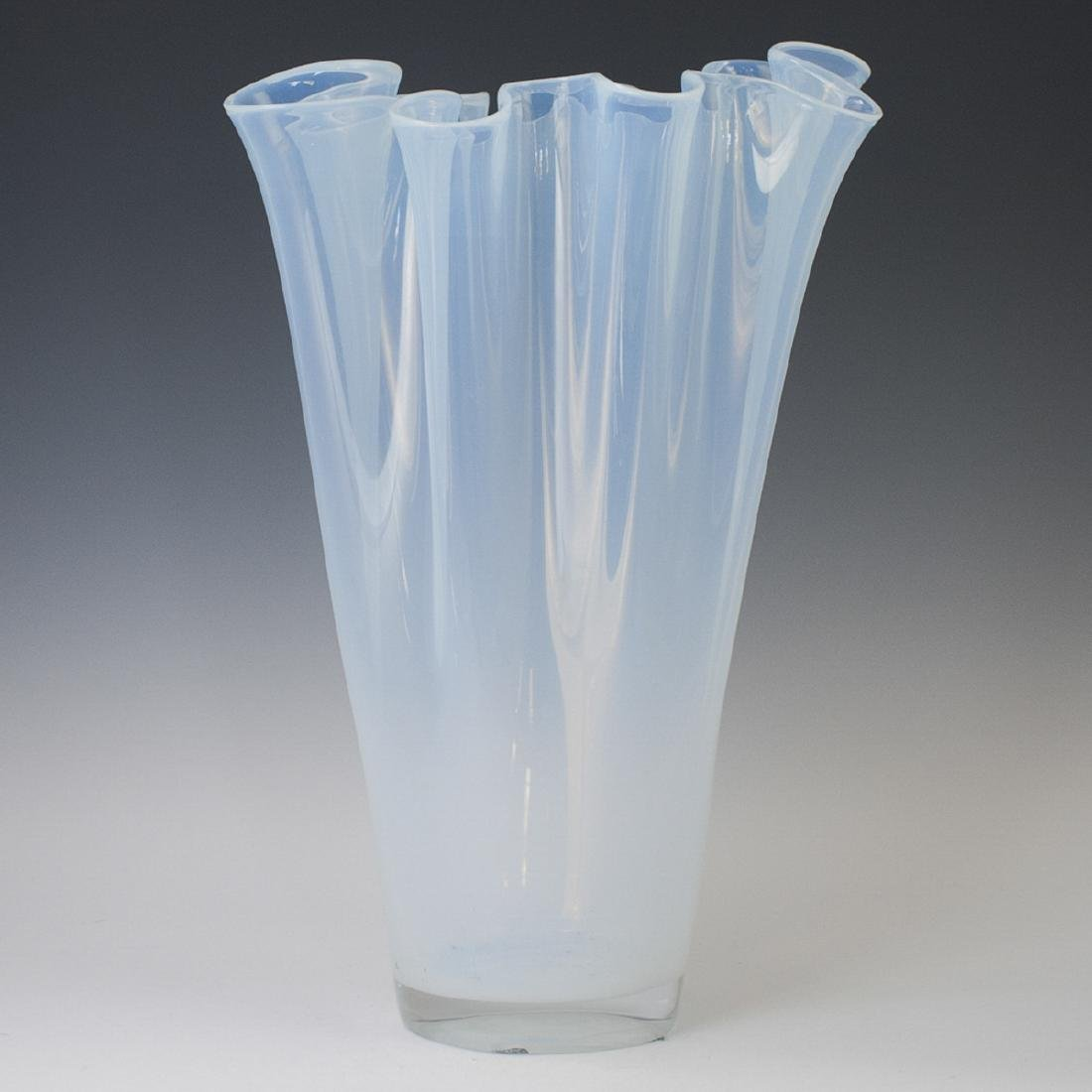 Large Opalescent Glass Vase