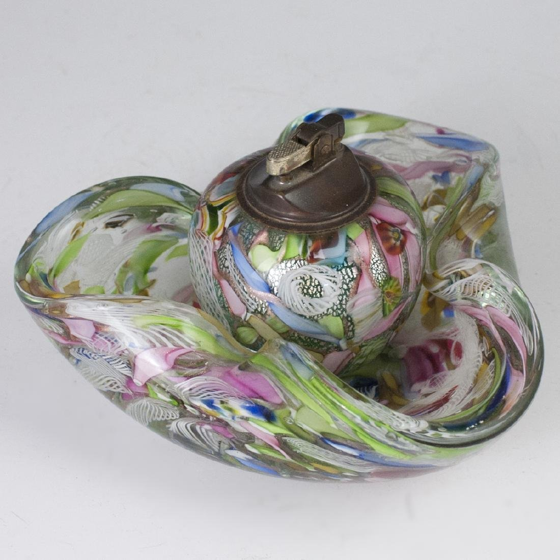 Dino Martens AVEM  Zanfirico Murano Glass Smoker Set