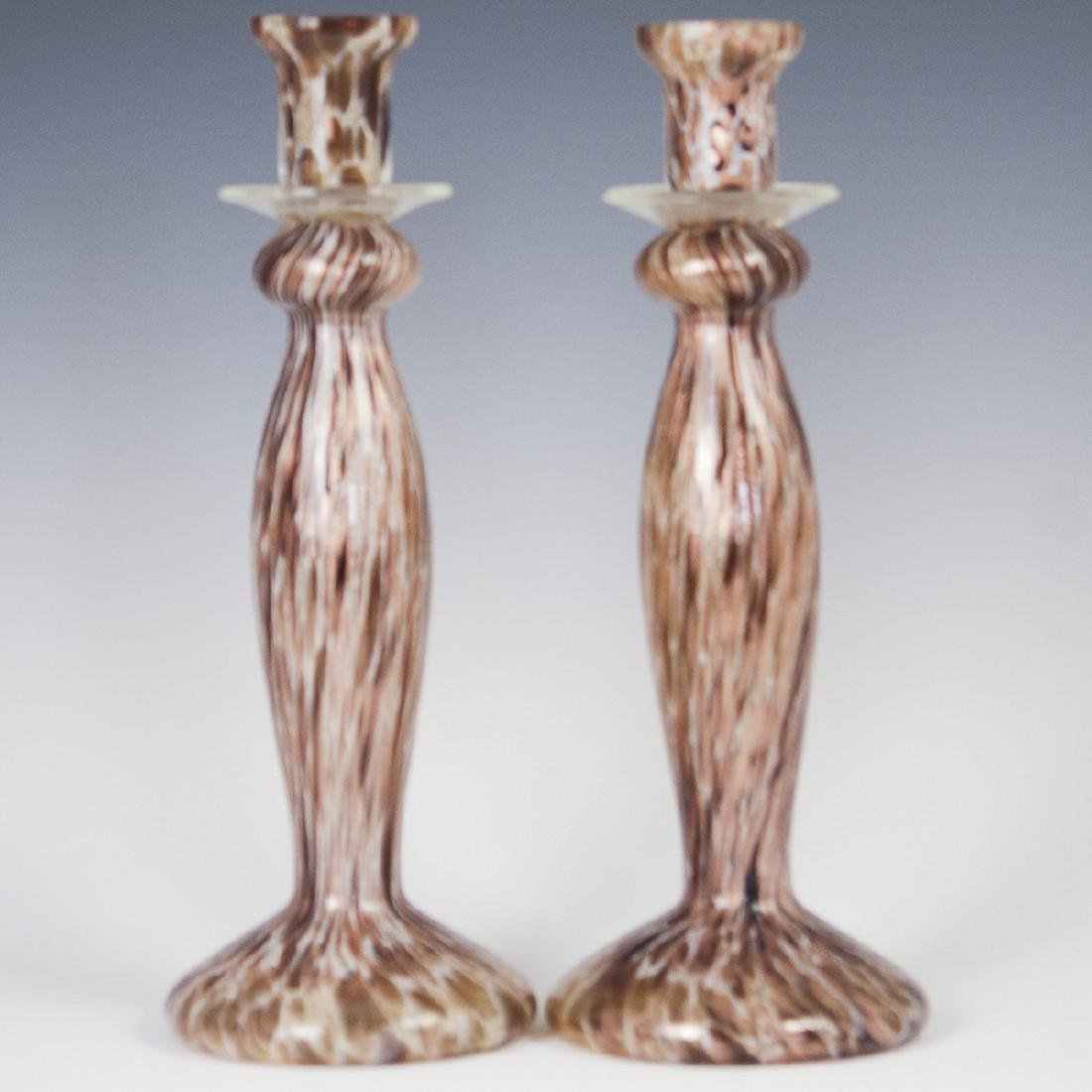 Murano Glass Candlesticks