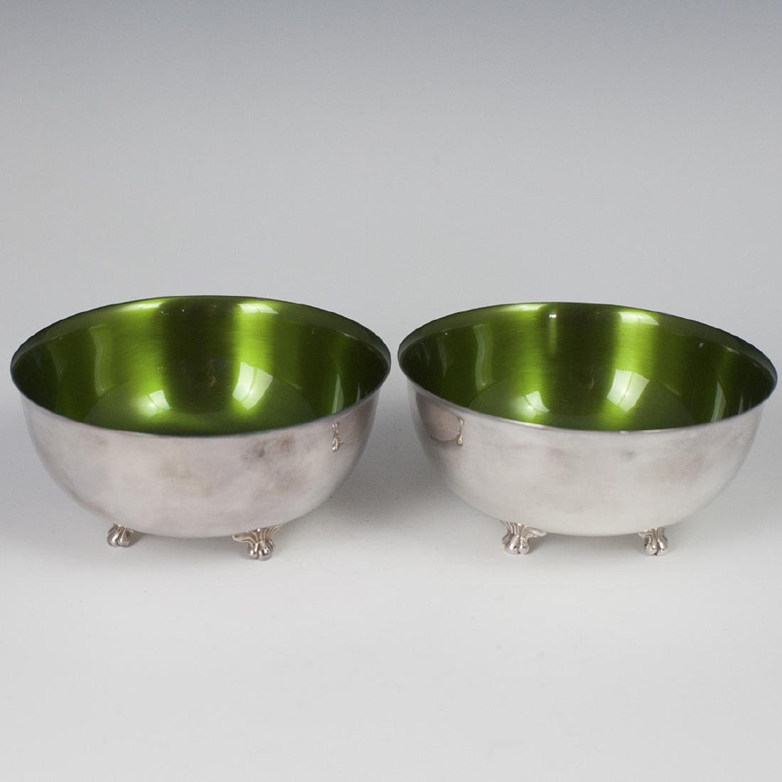 Wallace Silver Plated Enameled Bowls