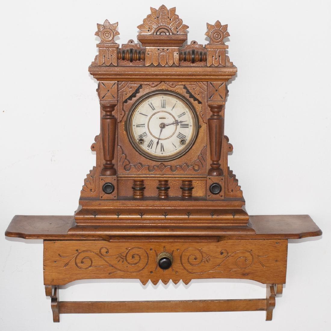Antique Wooden Gingerbread Clock