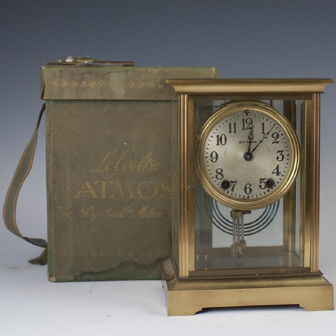 Seth Thomas Brass Regulator Mantle Clock