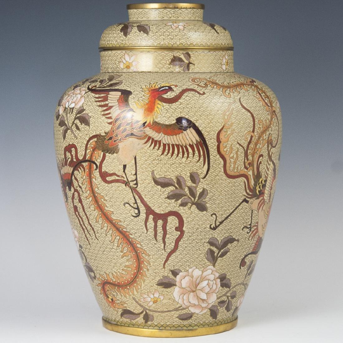 Chinese Cloisonne Enameled Urn