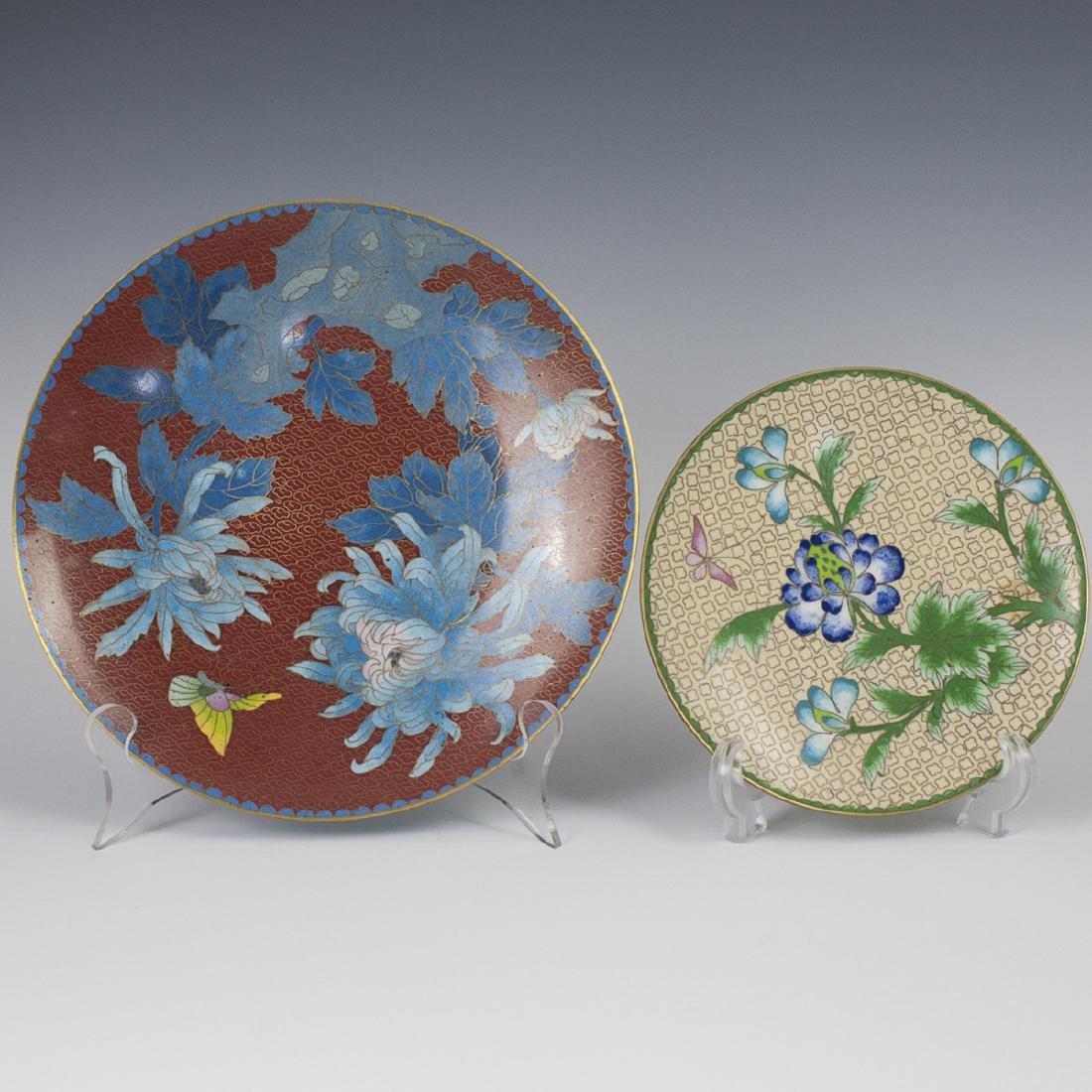 Chinese Cloisonne Enameled Plates