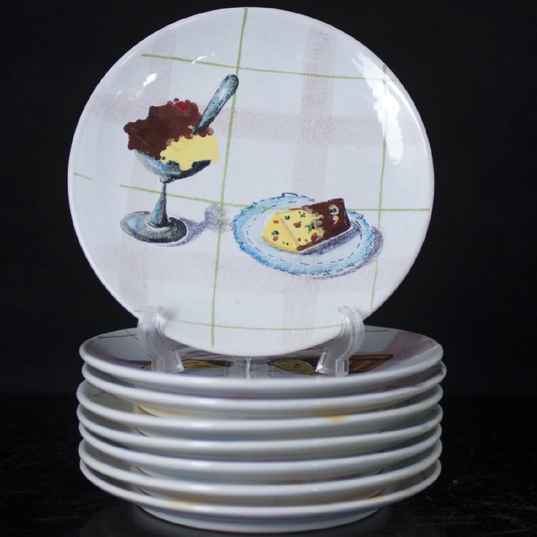Vintage Italian Majolica Dessert Plates