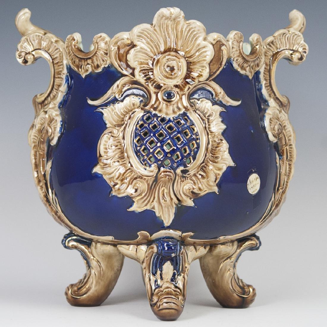 Large Glazed Porcelain Jardiniere
