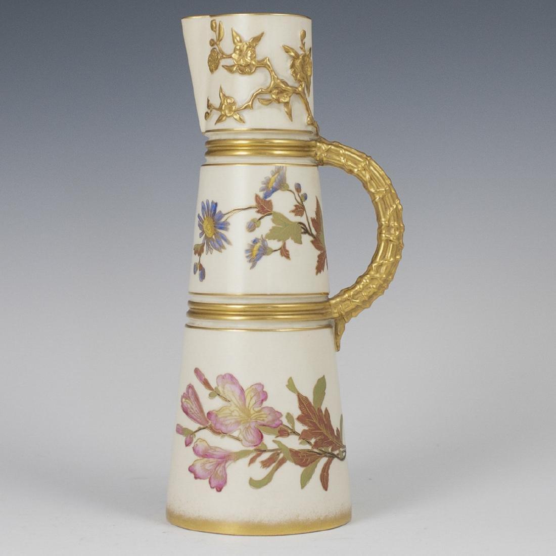 Royal Worcester Ivory Porcelain Ewer