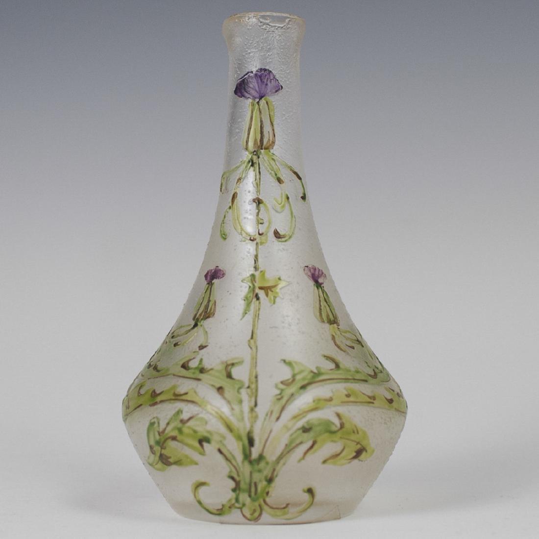Cristaux D'Art Choisy Le Roi Cameo Glass Vase