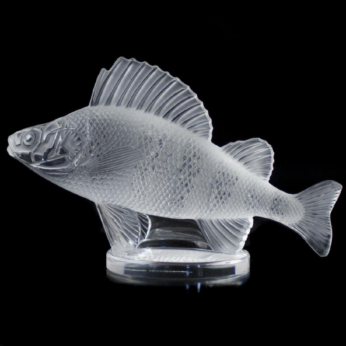 "Lalique Frosted Crystal ""Perch"""