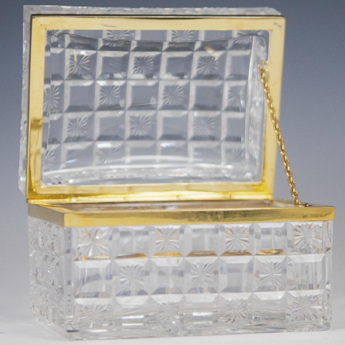 Baccarat Crystal Dore Bronze Casket Box