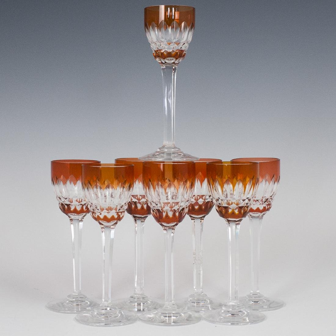 Baccarat Cut To Clear Crystal Cordials