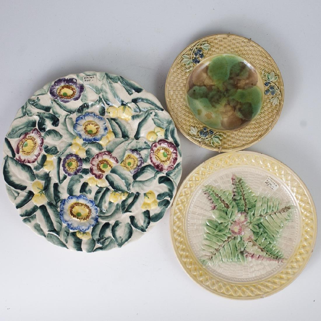 Vintage Majolica Glazed Plates
