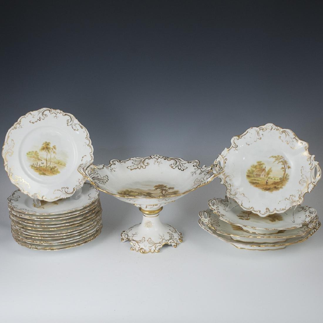 Antique English Porcelain Set