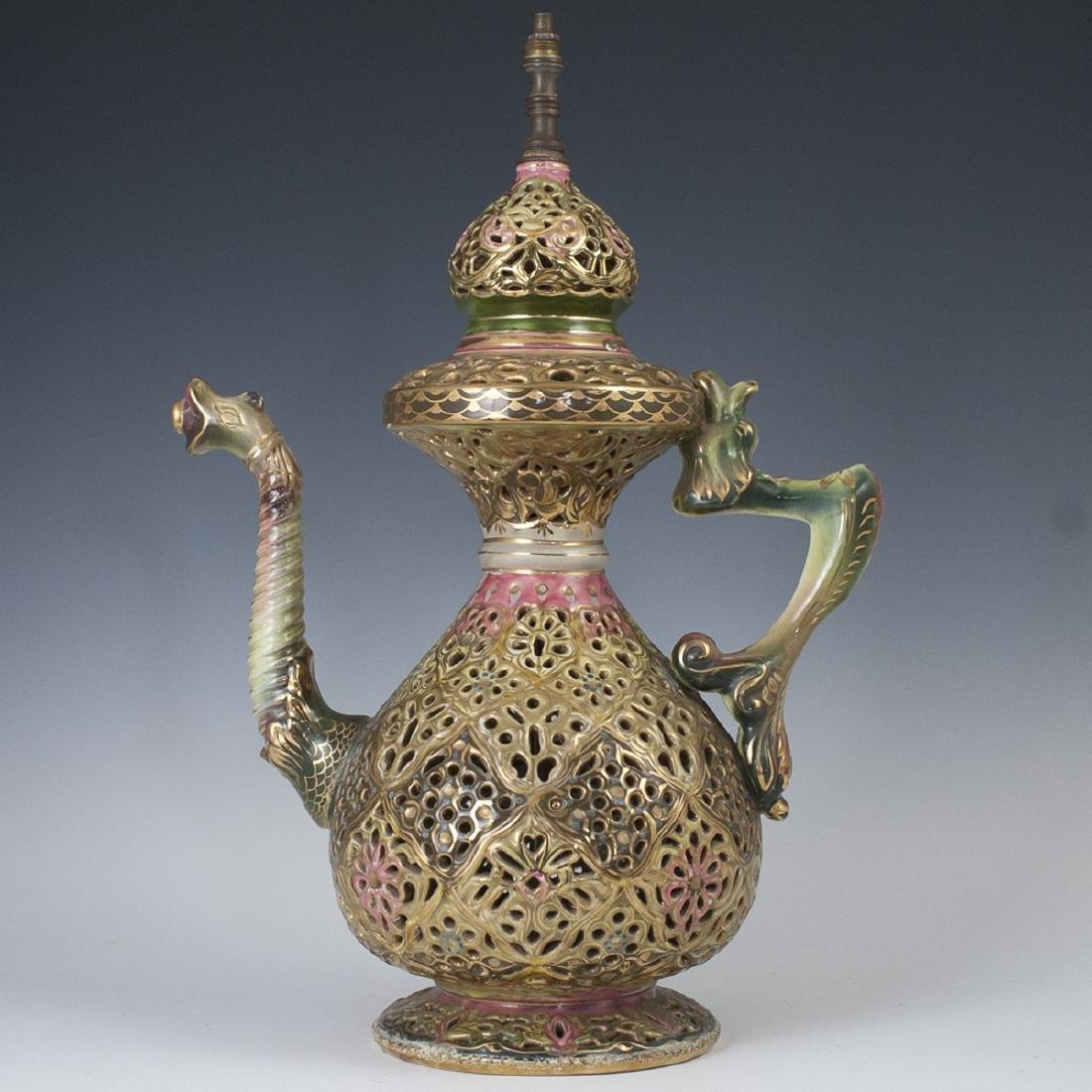 Fischer Style Decorative Porcelain Teapot