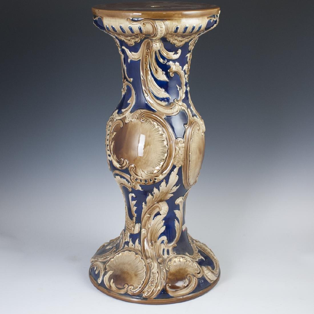 Decorative Majolica Glazed Porcelain Pedestal