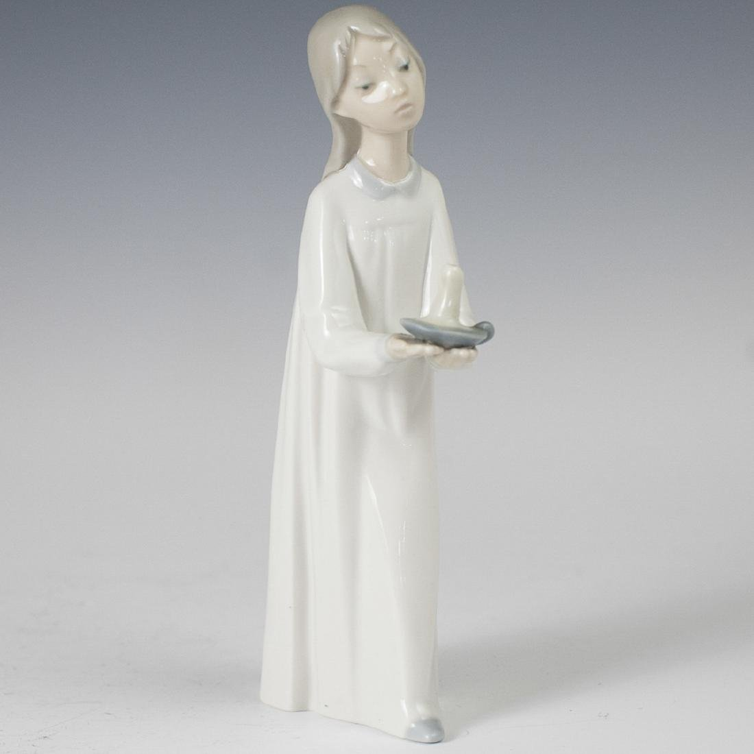 "Lladro Bisque Porcelain ""Girl With Candle"""