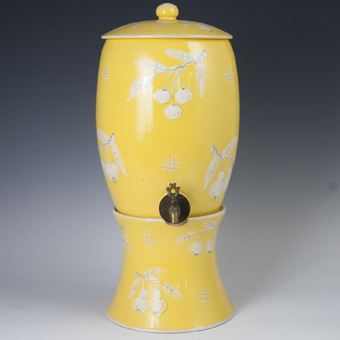 Vintage Italian Majolica Pottery Punch Dispenser